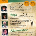 flyer surf, yoga, detox et coaching