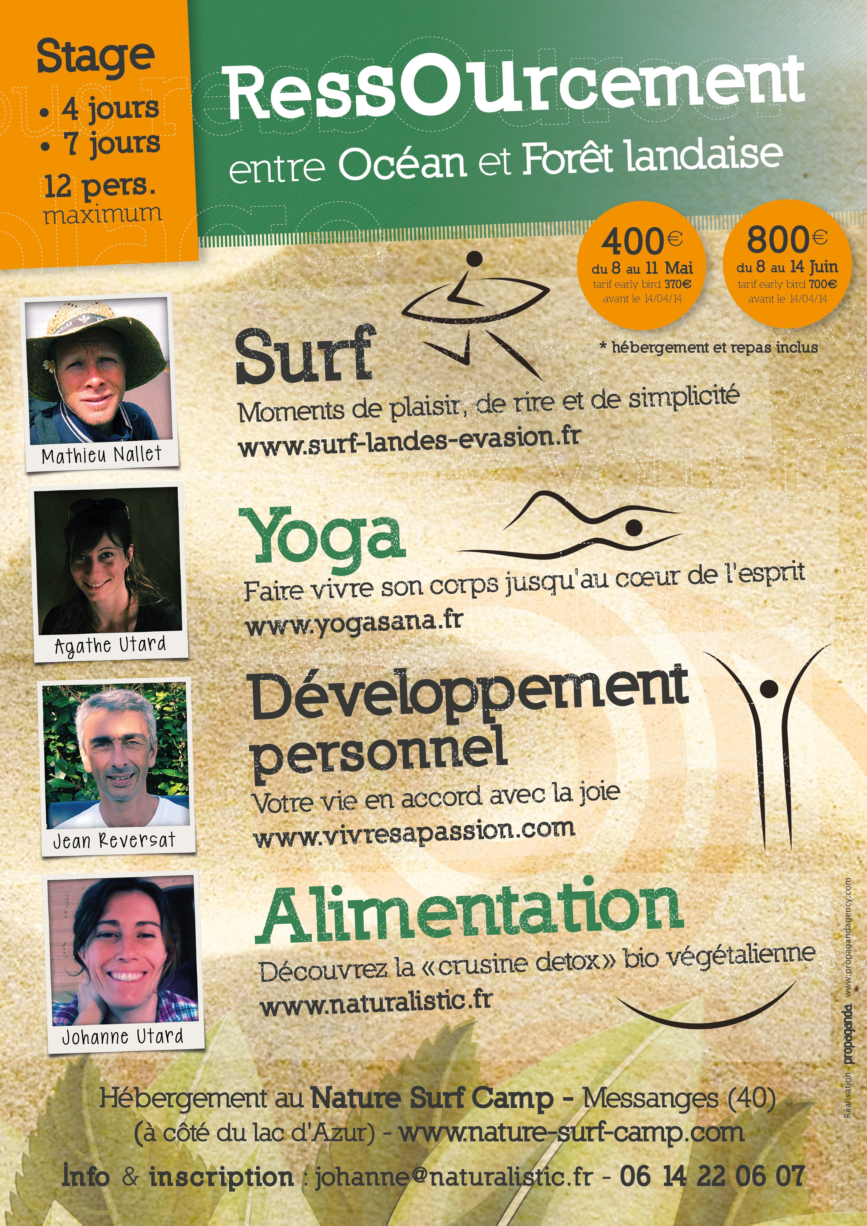 flyer stage surf, yoga, coaching, detox