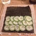 1 : feuille de nori et concombre