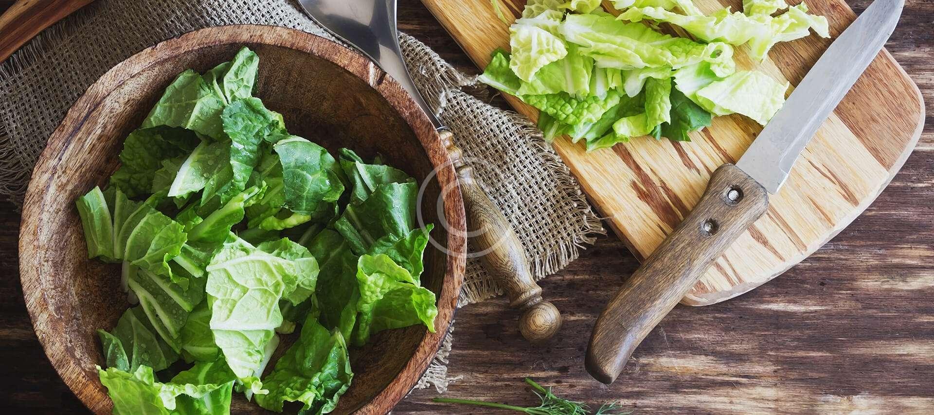Salade verte vinaigrette au miel